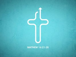 Sermon title page for Matthew 16:21-28 by qwertyDesign