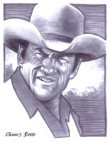 convention sketch 27 Marshal Matt Dillon by DennisBudd