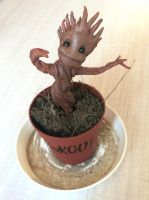 Baby Groot Sculpture by Mirish