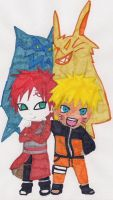 Gaara and Naruto by Cartoon-Elfje
