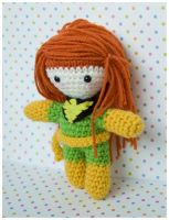 Jean Grey amigurumi doll by pirateluv