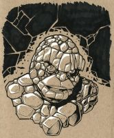 The Thing tone sketch by TravisTheGeek