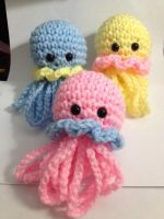 Crochet Amigurumi Jellyfish by StitchedLoveCrochet