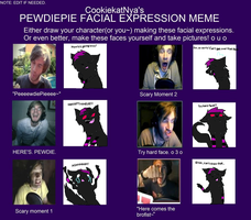 PewDiePie facial expreesion meme by AirenNova