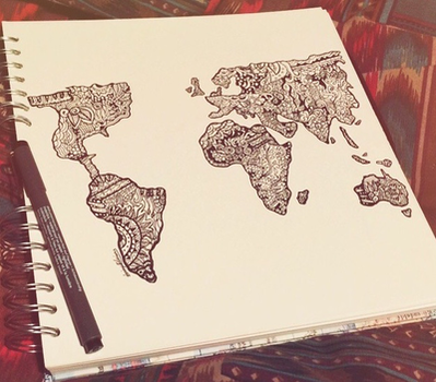World Map by daisymaydrawings