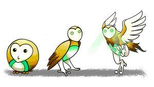 Fakemon - Barn owls by JohannesVIII