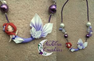 WhitePurple Mermaid Polymer Clay by Nakihra