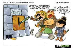 dungeon levers... rpg comic by travisJhanson