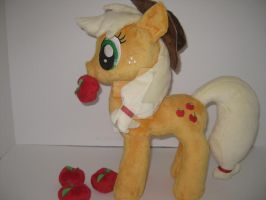 Friendship is Magic Applejack custom plush by GreenTeaCreations