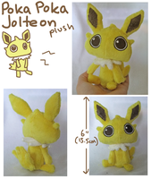 Poka Poka Jolteon plush by scilk