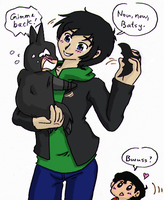 (Young) Justice League - Baby Batman Care by Cloud-Kitsune