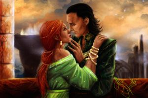 Loki and Sigyn by mappeli