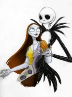 Jack + Sally -color- by MelanieGracey