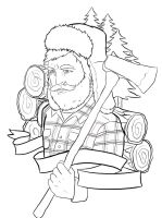 Lumberjack tattoo outline by ziuuziuu