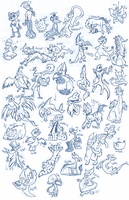 ALL the AMZ critters. c: by WindupFruitcake