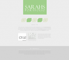 Personal portfolio - minimal by sarahlittleteeth