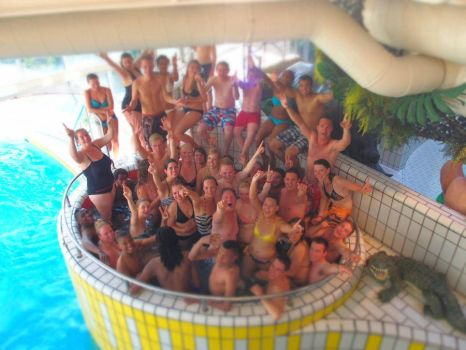 How many people fit in this hot tub? by Saabii