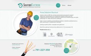 Solutions Electrical  website by michaelblackpl