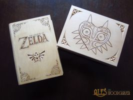 Legend of Zelda, chip carved trinket boxes by alesthewoodcarver