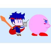 Kirby vs Ike 2 by kobrabranca