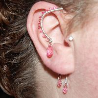 Pink crystal ear wrap v2- SOLD by YouniquelyChic
