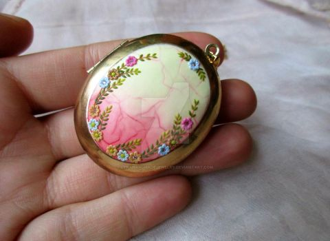 Once upon a time Locket Pendant by LenaHandmadeJewelry