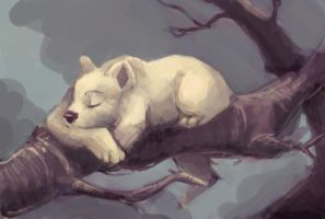 sleepin on a tree by Nanukk