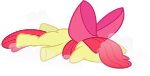 Apple Bloom Faceplant by PsychicWalnut