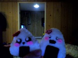 the Onigiri  plushis i made by miku22