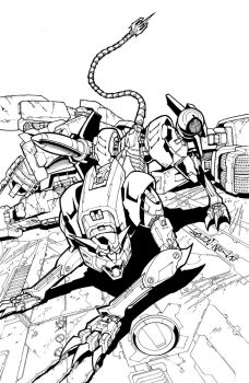 TF MTMTE 42 cover lineart by markerguru