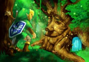 Oracle of Seasons, the Maku Tree by Ryuupix