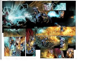 Mighty Thor pgs 4 and 5 by JUANCAQUE