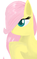 Filly fluttershy-More digital art practice. by ScootsNB
