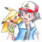 Pikachu and Ash by LARvonCL