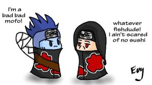 Kisame and Itachi meet by Sorceress2000
