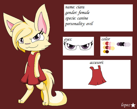 reference sheet- Ciara by lopez765