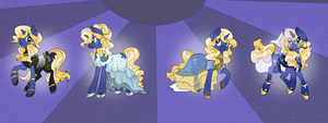 Commission: Starry Dreams Costume Ref. by Rannarbananar