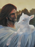 Jesus and the Lamb by Misted-Dream