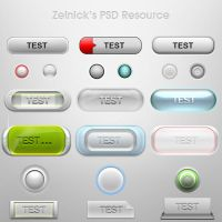 Button PSD Resource by ZelnickDesigns