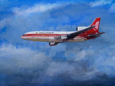 Air Lanka Tristar by artchby