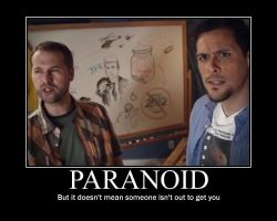 Motivational Poster: Paranoid by Beans-OCG