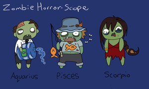 Zombie Horror Scope Series: Water signs by MuNafusa