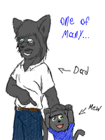 Mew And His Dad by crazymew