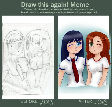 Draw This Again ~ Best Friends by Createsideaswithme