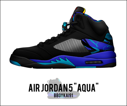 Air Jordan 5 'Aqua' by BBoyKai91