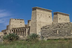 Isis temple on Philae, near Aswan by Drfayed