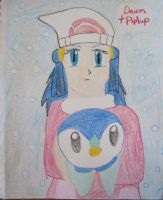 Dawn and Piplup by Trissacar