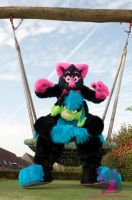 Pinky and Remy on the swing by FurryFursuitMaker