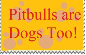 Pitbulls are Dogs Too Stamp by PsychoDemonFox