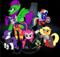 MLP: The Avengers by B-Mint1994